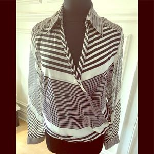 Authentic Gucci silk striped blouse